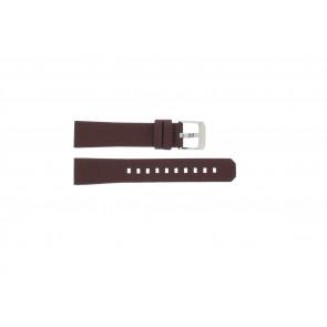 Bracelet de montre Tag Heuer WAC1219 / BC0848 Cuir Bordeaux 17mm