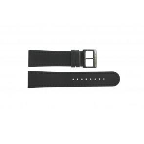 Bracelet de montre Mondaine BM20054-W Cuir Noir 22mm