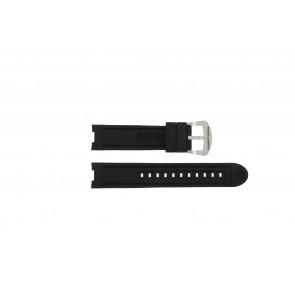 Bracelet de montre Buddha to Buddha BTB.M.R.3H.2.2 / MR.3H.3.2 Caoutchouc Noir 21mm