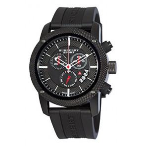Bracelet de montre Burberry BU7701 Silicone Noir 24mm
