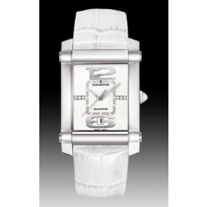 Bracelet de montre Candino C4283 Cuir Blanc 22mm