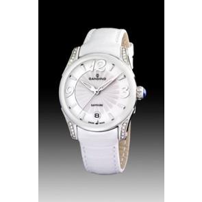 Bracelet de montre Candino C4419-1 Cuir Blanc