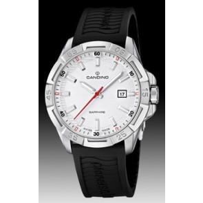 Bracelet de montre Candino C4497-1 (BC07412) Caoutchouc Noir