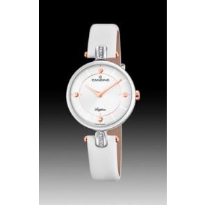 Bracelet de montre Candino C4658-1 Cuir Blanc
