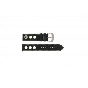 Bracelet de montre Camel BC51026 / A661.3522A.LBPA Cuir Noir 22mm