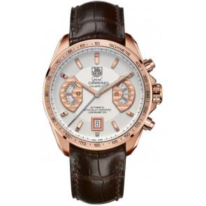 Bracelet de montre Tag Heuer CAV514B / BX0849 / BX0870 XL Peau de crocodile Brun 22mm