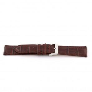 Bracelet de montre D341 Cuir Brun 14mm + coutures brunes