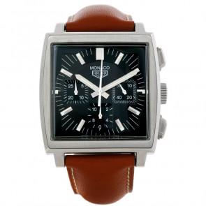 Bracelet de montre Tag Heuer CS2111-BC0788 Cuir Brun 22mm