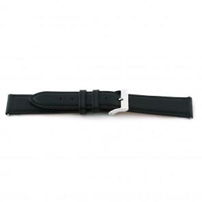 Bracelet de montre F012 XL Cuir Noir 18mm + coutures défaut