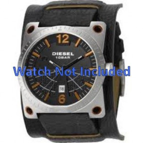 Diesel bracelet de montre DZ1212 Cuir Noir 28mm + coutures défaut