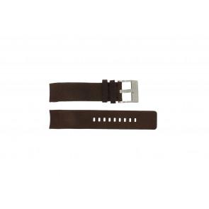Diesel bracelet de montre DZ4038 / DZ4041 Cuir Brun 22mm