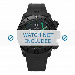 Bracelet de montre Edox 10020-37N-NV Silicone Noir 22mm