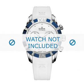 Edox bracelet de montre 10405-357B-NAIN Silicone Blanc 18mm