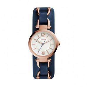 Bracelet de montre Fossil ES3857 Cuir Bleu