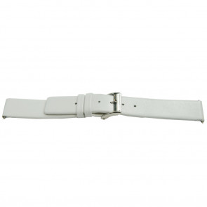 Bracelet de montre Universel J510 Cuir Blanc 26mm