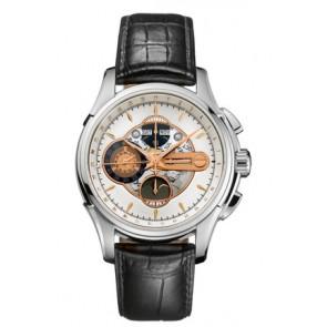 Bracelet de montre Hamilton H32696751 Cuir Noir 22mm