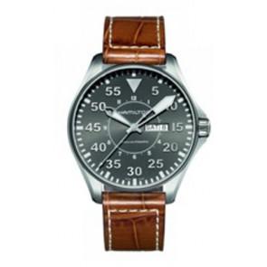 Bracelet de montre Hamilton H64715885 Cuir Cognac 22mm