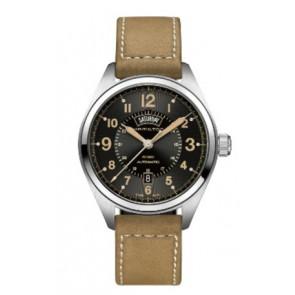 Bracelet de montre Hamilton H001.70.505.833.01 Cuir Beige 20mm