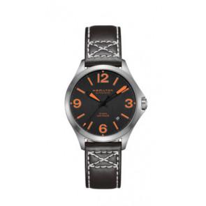 Bracelet de montre Hamilton H76235731 Cuir Noir 19mm