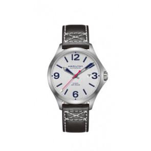 Bracelet de montre Hamilton H76525751 Cuir Noir 20mm