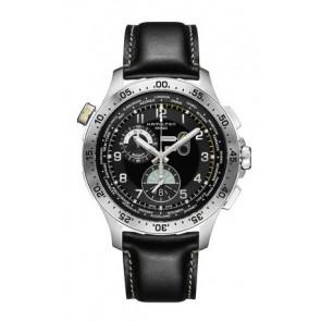 Bracelet de montre Hamilton H76714735 Cuir Noir 22mm