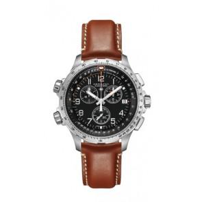 Bracelet de montre Hamilton H77912535 Cuir Brun 22mm