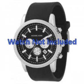 Bracelet de montre Michael Kors MK8040 / MK8055 Caoutchouc Noir 22mm