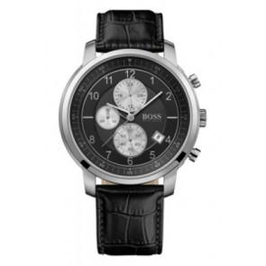 Bracelet de montre Hugo Boss HB-137-1-14-2352 Cuir Noir 22mm