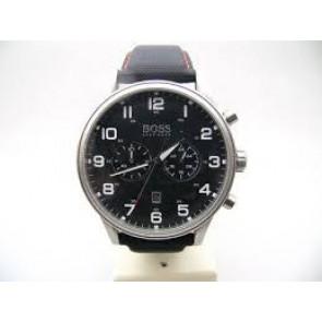 Bracelet de montre Hugo Boss HB.199.114.2570 Cuir/Plastique Noir 22mm