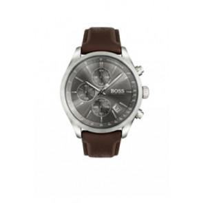 Bracelet de montre Hugo Boss HB-297-1-14-2956 / HB659302764 Cuir Brun foncé 22mm