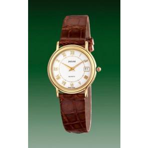 Bracelet de montre Jaguar J601-2 Cuir Brun 14mm