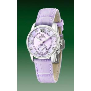 Bracelet de montre Jaguar J624-B Cuir Pourpre 17mm