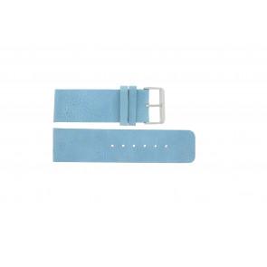 Bracelet de montre Universel J625 Cuir Bleu 26mm