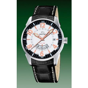 Bracelet de montre Jaguar J628/2 Cuir croco Noir