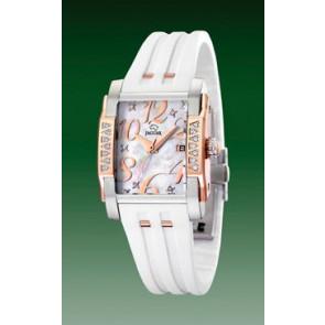 Bracelet de montre Jaguar J648-1 Caoutchouc Blanc