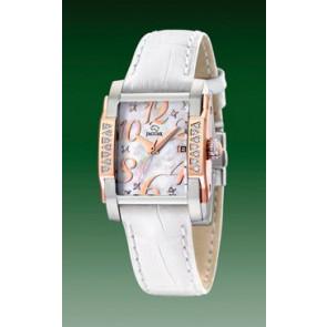 Bracelet de montre Jaguar J648-3 Cuir Blanc