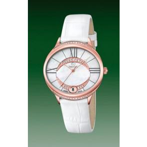 Bracelet de montre Jaguar J804-1 Cuir Blanc 16mm