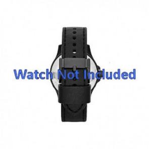 Fossil bracelet de montre JR-1448 Cuir Noir 22mm