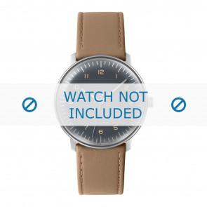 Junghans bracelet de montre 027/3401.00 Cuir Beige 20mm + coutures défaut