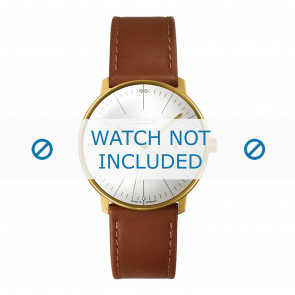 Junghans bracelet de montre 027/7700.00 Cuir Cognac 20mm + coutures défaut
