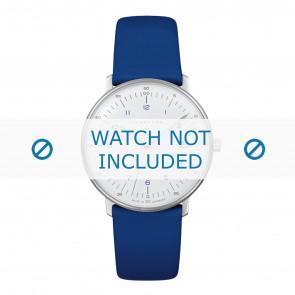 Bracelet de montre Junghans 047/4540.00 Cuir Bleu 18mm