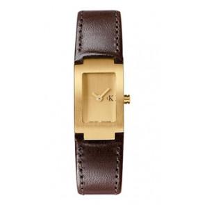 Bracelet de montre Calvin Klein K600026550 / K0411209 Cuir Brun