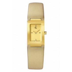 Bracelet de montre Calvin Klein K604022453 / K0411224 Cuir Beige