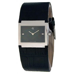 Bracelet de montre Calvin Klein K04281.46 / K600.028.750 Cuir Noir