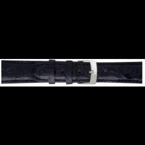 Morellato bracelet de montre Amadeus XL G.Croc Gl K0518052019CR22 / PMK019AMADEU22 Peau de crocodile Noir 22mm + coutures défaut