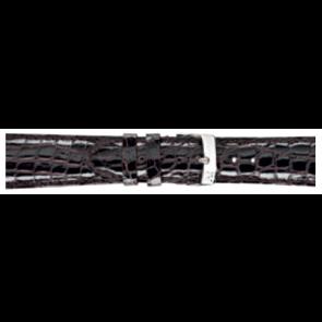 Morellato bracelet de montre Amadeus XL G.Croc Gl K0518052032CR22 / PMK032AMADEU22 Peau de crocodile Brun foncé 22mm + coutures défaut