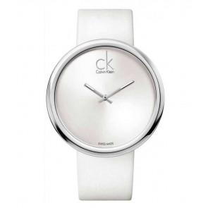 Bracelet de montre Calvin Klein K0V23120 Cuir Blanc 22mm