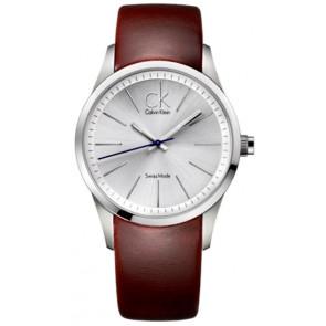 Bracelet de montre Calvin Klein K2241138 Cuir Brun