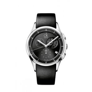 Bracelet de montre Calvin Klein K2A27161 / K600000065 Cuir Noir 20mm