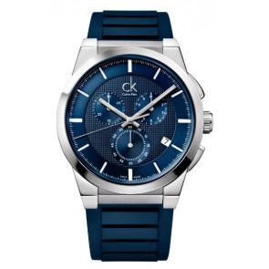 Bracelet de montre Calvin Klein K2S371 Caoutchouc Bleu